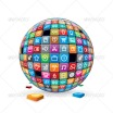 Media Apps Sphere Vector 1